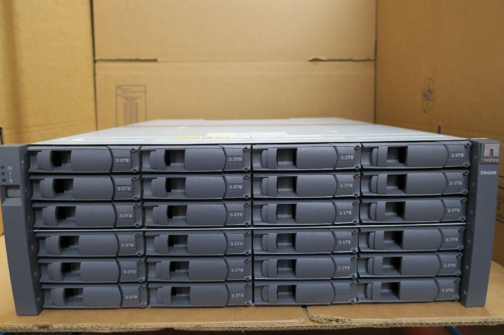 NetApp DS4246 24 x 3TB X309A-R6 2 x IOM6 2 x PSU 72TB Expansion Shelf